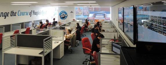 Zoho Motivator Sales Floor with TV Screens showing KPIs