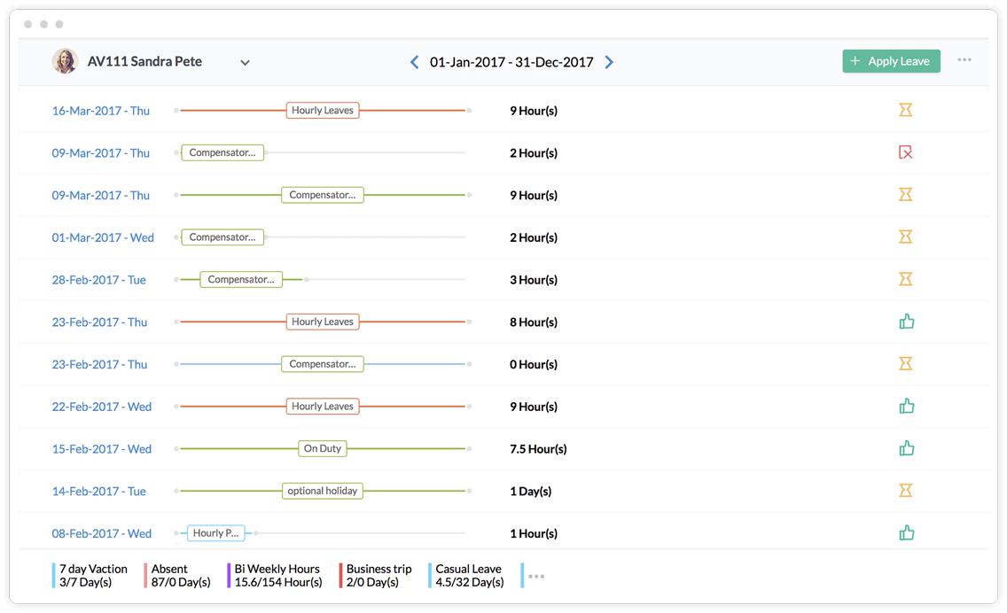 HR Leave Tracker